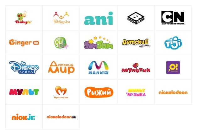 Детский список каналов